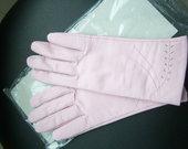 rožinės naujos odinės pirštinės