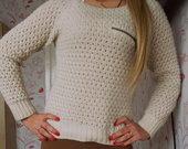 Baltas bershka megztinis