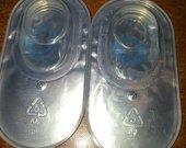 Žydri kontaktiniai lęšiai, nauji, 3 men.