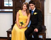 Ilga geltona suknele
