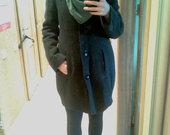 Pilkas žieminis paltas