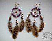 Indėniški auskarai- sapnų gaudyklės