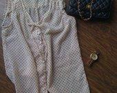 Taškuoti permatomi marškinukai