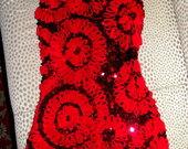 Raudona mini suknele