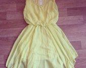 DG stiliaus geltona suknelė