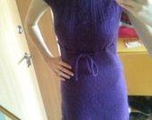 Megzta violetinė suknelė
