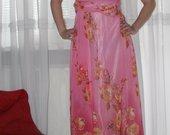 Ilga gėlėta proginė suknelė