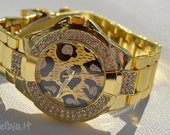 Naujas Guess laikrodis leopard