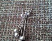 sidabriniai auskariukai