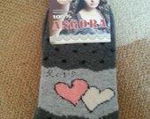 Šiltos angorinės kojinės