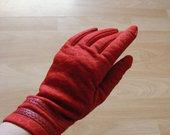 Raudonos medžiaginės piršinės