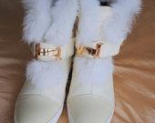 nauji hermes batai su kailiu