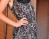 Šilkinė gepardinė suknelė