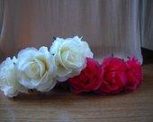 Lankeliai plaukams iš rožių