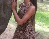 Leopardine suknyte