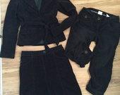 H&M velvetinis juodas komplektukas