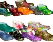 Spalvoti batai PVC