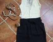 Naujas Bershka sijonas su diržu