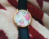 Naujas laikrodis su gėlytėmis