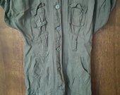 IŠPARDAVIMAS. Militariatinė chaki marškiniai