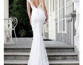 WOOW!!! Vienetinė rankų darbo vestuvinė suknelė