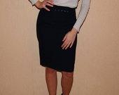 Tamsiai mėlynas liekninantis sijonas!