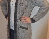 Vilnoninis ilgas megztinis