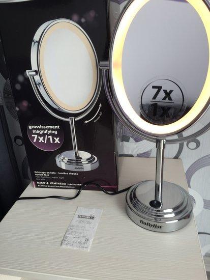 Babyliss veidrodis su apšvietimu