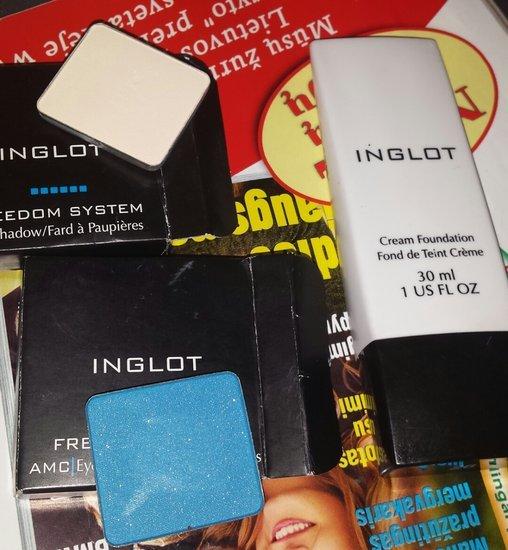 inglot makiažo pagrindas ir šešeliai