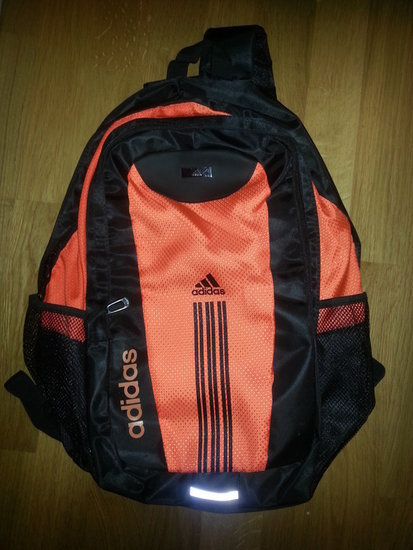 Adidas juodai-oranzine kuprine
