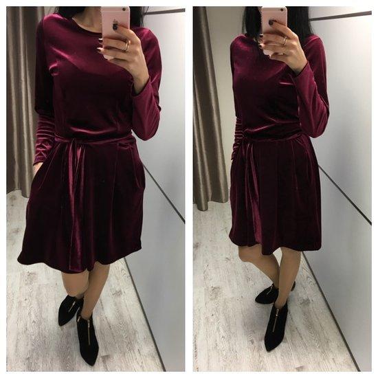 Bordo aksomine suknele