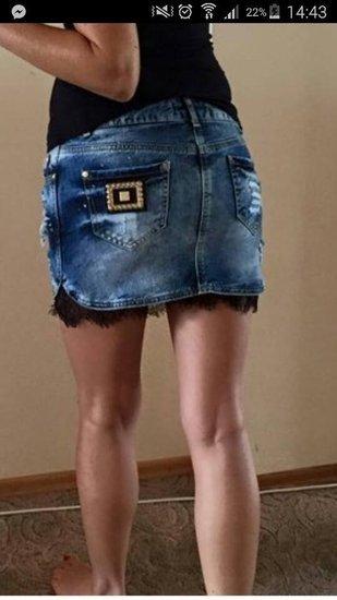AMN sijonas, yra melynas ir pilkas