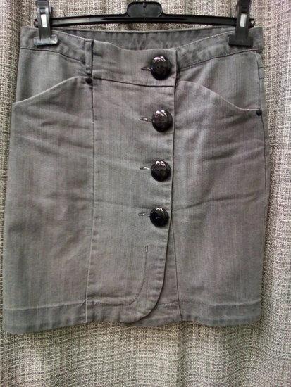 Vero Moda tamprus džinsinis sijonas 3974-1