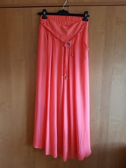 Koralinis ilgas sijonas