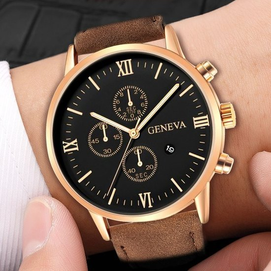 Vyriškas rudas laikrodis