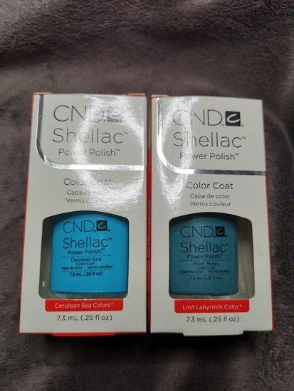 Aukstos kokybes geliniai lakai Cnd Shellac 7.3ml.