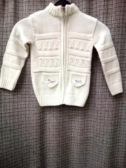 Cibi Pibi merg.megztinis su karoliukais 4105-18