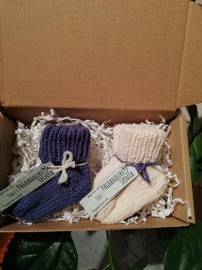Merino vilnos naujagimio kojinytės