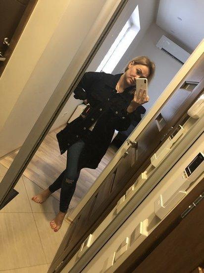 Oversize stiliaus džinsinis švarkelis