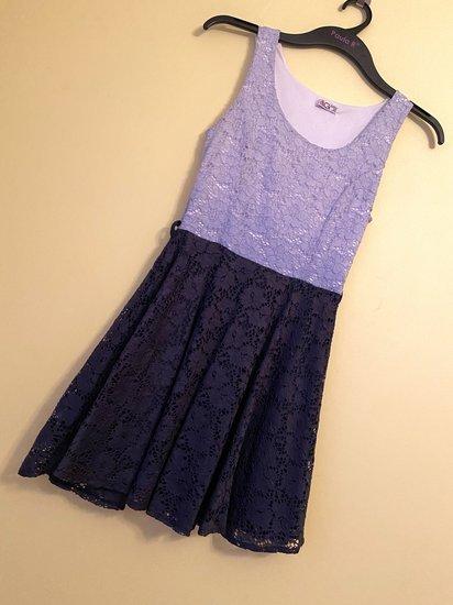 Pereinamų spalvų suknelė