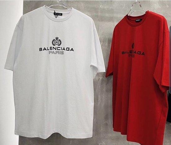 Balenciaga balti marškinėliai oversize