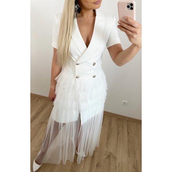 Nauja progine balta suknele