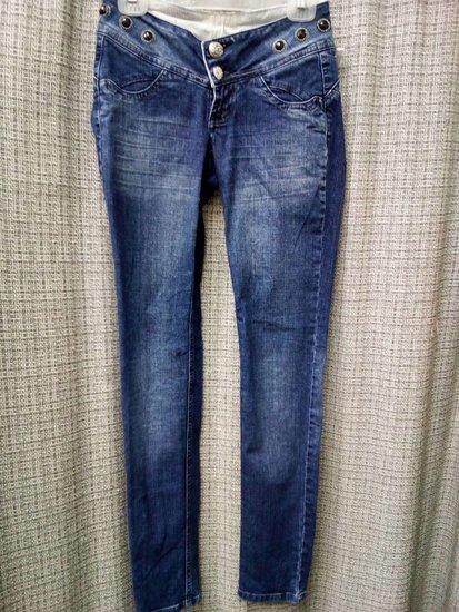 CK tamprūs siauri džinsai su dekoracijomis 3541-5