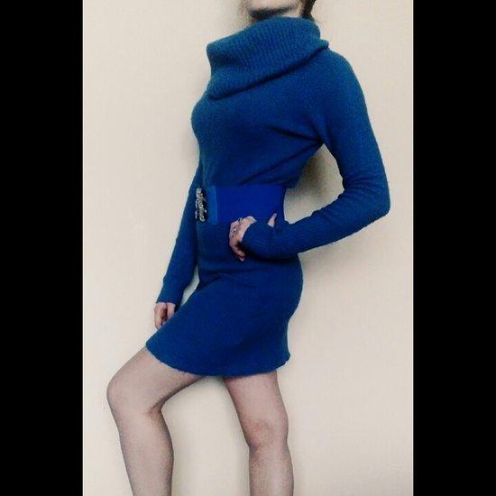 Ilgas šiltas megztukas - suknelė