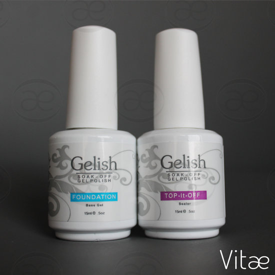 Vitae Gelish foundation base + top it off