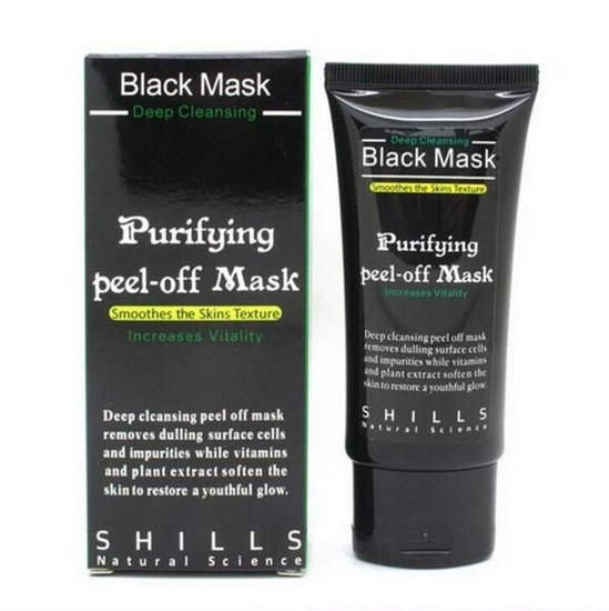Shills black mask (valomoji veido kauke)