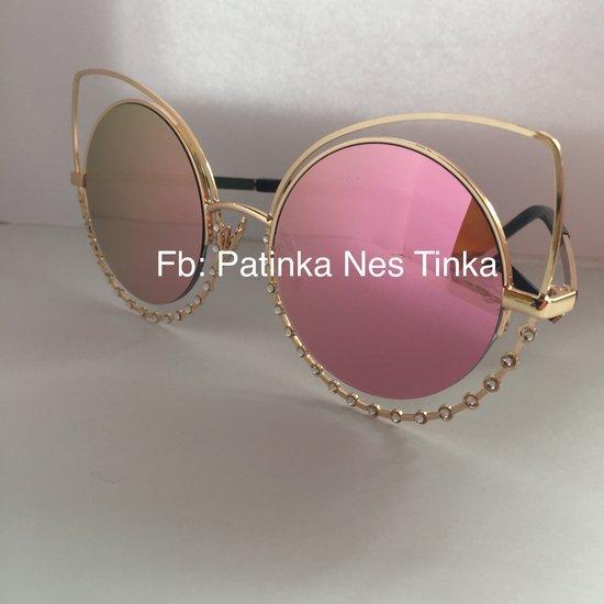 Roziniai su akmenukais akinukai