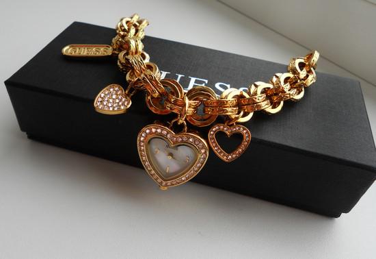 Guess golden heart laikrodukas