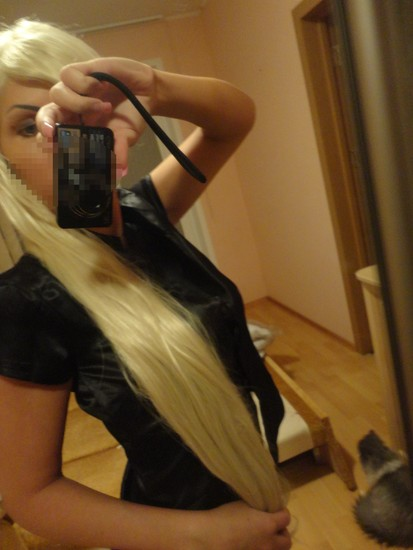 perukas blond 100cm