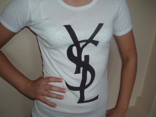 YSL logo t-shirt palaidinė